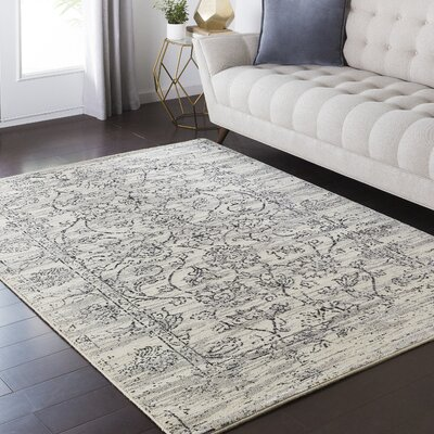 Hyde Park Contemporary Gray/Black Area Rug Rug Size: 110 x 211