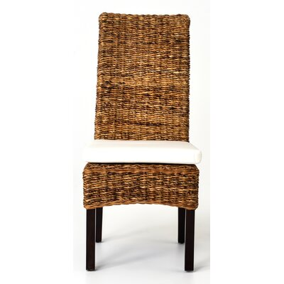Huetter Banana Leaf Parsons Chair Color: Mahogany
