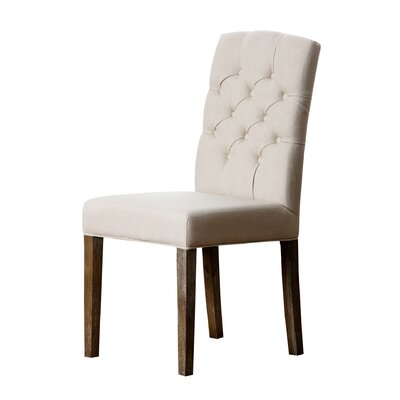 Isidore Upholstered Dining Chair Upholstery: Cream
