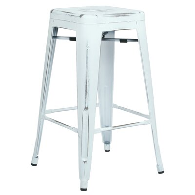 Isabel 26 Bar Stool Finish: Antique White