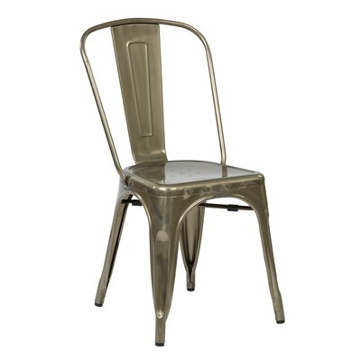 Fineview Side Chair Finish: Gun Metal