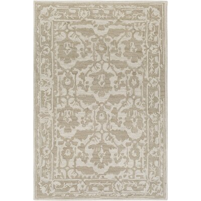Montgomery Hand-Tufted Tan/Ivory Area Rug Rug Size: 5 x 76