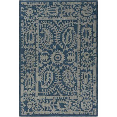 Montgomery Hand-Tufted Navy/Light Gray Area Rug Rug Size: 2 x 3
