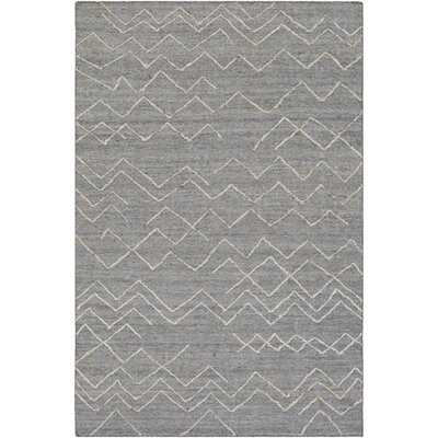 Morton Hand-Woven Medium Gray/Khaki Area Rug Rug Size: 2 x 3
