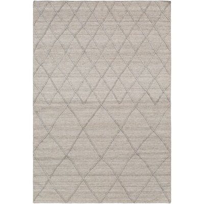 Morton Hand-Woven Taupe/Dark Brown Area Rug Rug Size: Rectangle 5 x 76