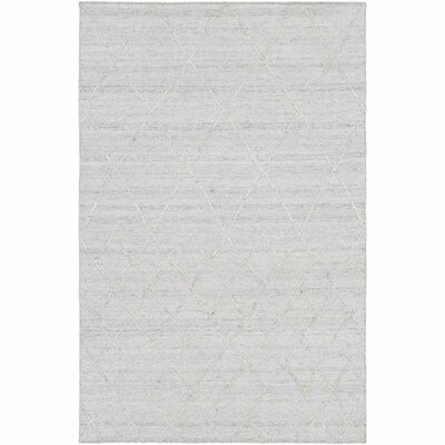 Morton Hand-Woven Ivory/Medium Gray Area Rug Rug Size: Rectangle 5 x 76