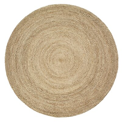 Fleuristes Jute Hand-Woven Natural Area Rug Rug Size: Round 4