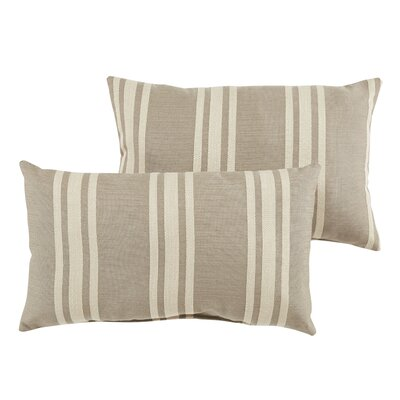 Macon Stripe Indoor/Outdoor Sunbrella Lumbar Pillow