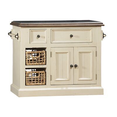 Zula Kitchen Island with Granite Top Base Finish: Country White