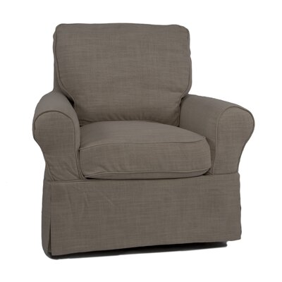 Maddy Slipcovered Swivel Armchair