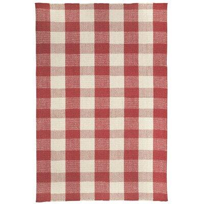Madeleine Scarlet Striped Rug Rug Size: 5 x 8
