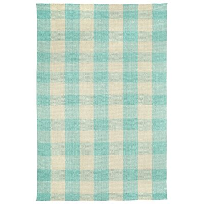 Madeleine Teal Striped Rug Rug Size: 7 x 9