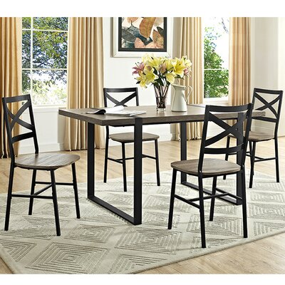 Madelyn Urban Blend Wood Dining Table Finish: Driftwood