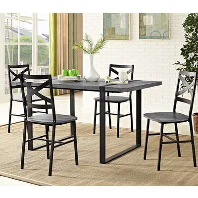 Madelyn Urban Blend Wood Dining Table Finish: Charcoal