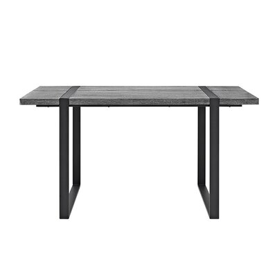 Madelyn Urban Blend Wood Dining Table Dining Table Finish: Charcoal