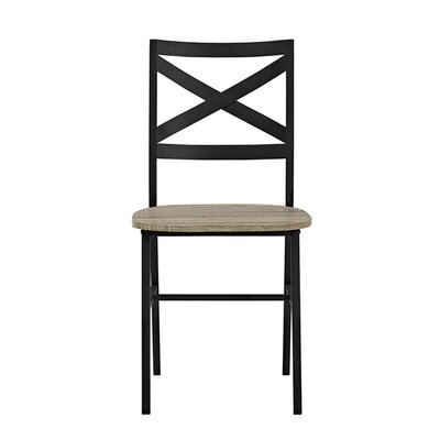 Madelyn Metal X-Back Wood Side Chair Finish: Driftwood