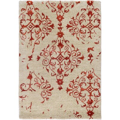 Montsoreau Hand-Tufted Red Area Rug Rug Size: 2' x 3'