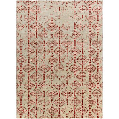 Hartleton Hand-Tufted Red Area Rug Rug Size: Rectangle 8 x 11