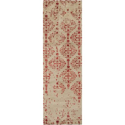 Hartleton Hand-Tufted Red Area Rug Rug Size: Runner 26 x 8