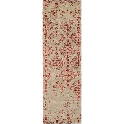 Hartleton Hand-Tufted Red Area Rug Rug Size: Runner 26 x 8
