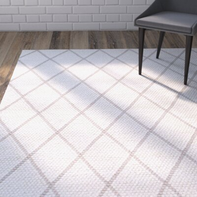 Adelinna Hand-Hooked Ivory Area Rug Rug Size: Rectangle 4 x 6