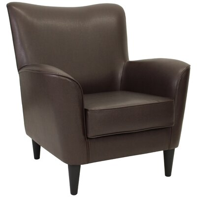 Chatelaine Club Chair Upholstery: Leatherette Walnut