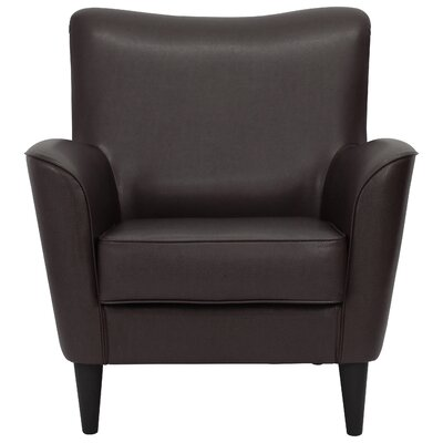 Chatelaine Club Chair Upholstery: Leatherette Black