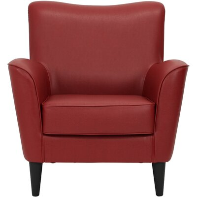 Chatelaine Club Chair Upholstery: Leatherette Red