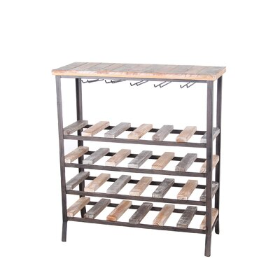 Amory 24 Bottle Floor Wine Rack