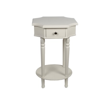 Neysa 1 Drawer End Table Finish: White