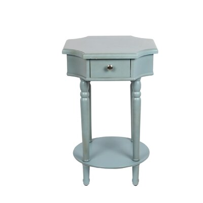 Neysa 1 Drawer End Table Finish: Sage