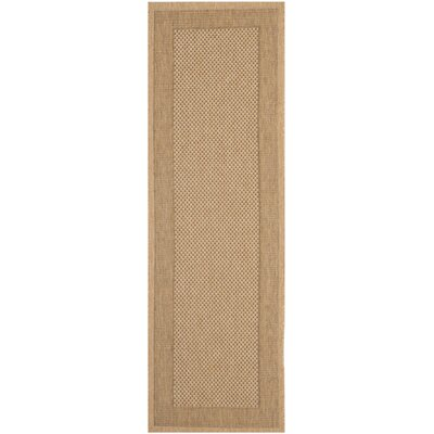 Manassas Natural/Gold Indoor/Outdoor Rug Rug Size: Runner 23 x 10