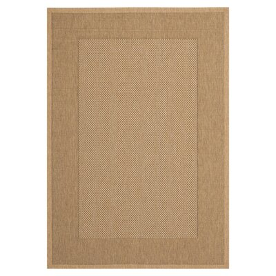 Manassas Natural/Gold Indoor/Outdoor Rug Rug Size: 67 x 96