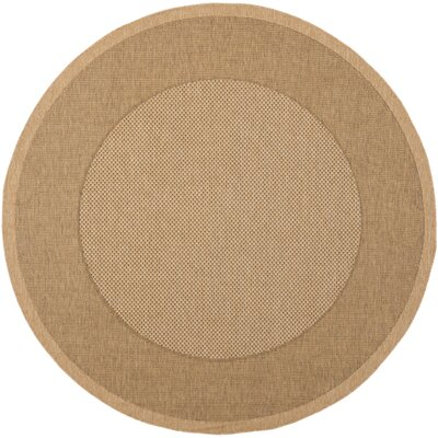 Manassas Natural/Gold Indoor/Outdoor Rug Rug Size: Round 53