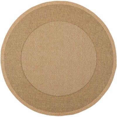 Manassas Natural/Gold Indoor/Outdoor Rug Rug Size: Round 53