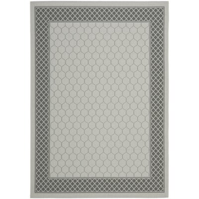 Manassas Light Grey/Anthracite Indoor/Outdoor Rug Rug Size: Rectangle 4 x 57