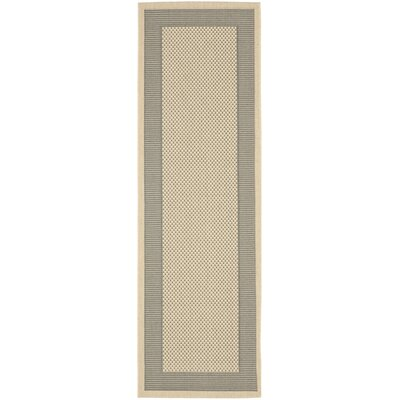 Manassas Grey/Cream Indoor/Outdoor Rug Rug Size: Runner 24 x 67