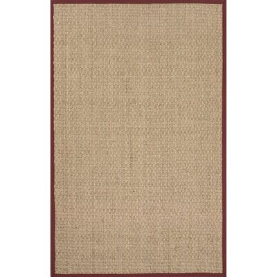 Gaston Seagrass Naturals Ivory/Burgundy Area Rug Rug Size: 2 x 3