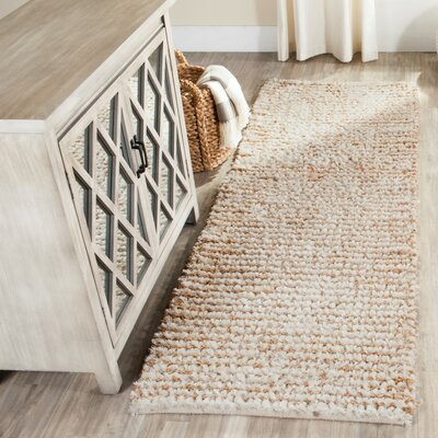 Matelles White & Beige Area Rug Rug Size: Rectangle 23 X 7
