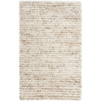 Matelles White & Beige Area Rug Rug Size: 3 x 5