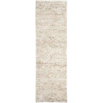 Matelles White & Beige Area Rug Rug Size: Runner 23 x 9