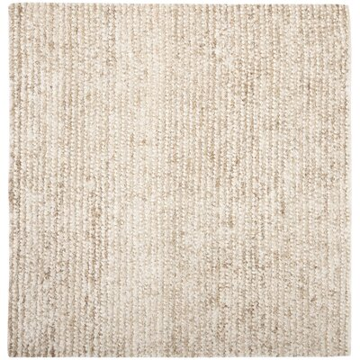 Matelles White & Beige Area Rug Rug Size: Square 7