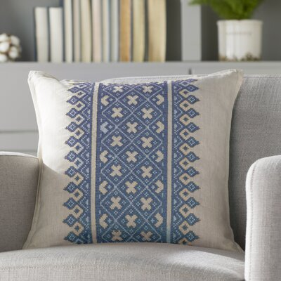 Killigrew Pillow Cover Size: 20 H x 20 W x 0.25 D, Color: Blue