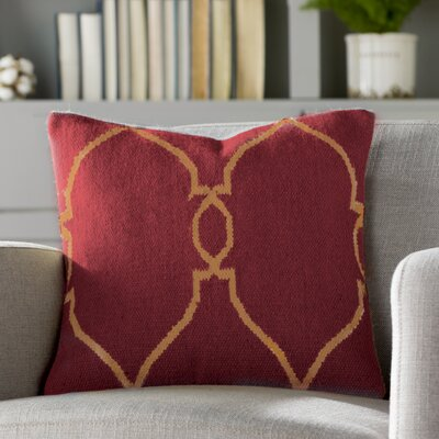 Elena Throw Pillow Cover Size: 18 H x 18 W x 0.25 D, Color: RedBrown