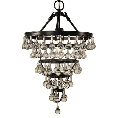 Elco Tear Drop 1-Light Crystal Pendant