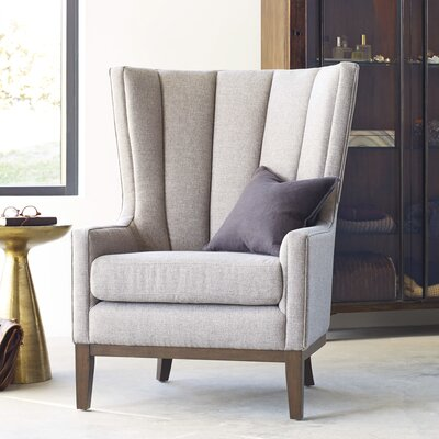 Elderton Channelled Wing back Chair Upholstery: Chess Pewter