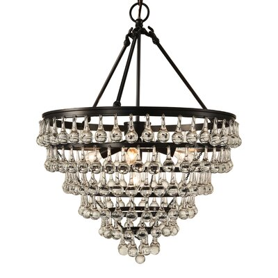 Elco Tear Drop 5-Light Crystal Chandelier