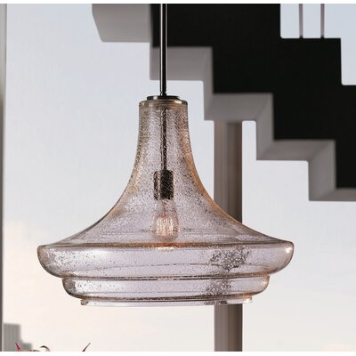 Jewell 1-Light Mini Pendant Finish: Brushed Nickel, Size: 11.5 H x 12.5 W x 14.5 D