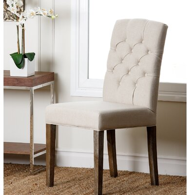 Isidore Parsons Chair Upholstery: Cream