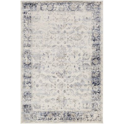 Jeddo Rectangle Neutral/Gray Area Rug Rug Size: Rectangle 53 x 76